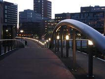 Evening Bridge. Evening light at the Hague city area royalty free stock photography