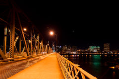 Evening on a bridge over the Willamette River in Portland Stock Photo