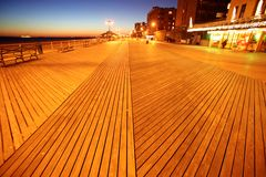 Evening in Brighton Beach of Coney Island royalty free stock image