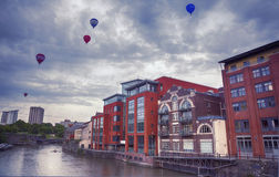 Evening Bristol  by Avon river Stock Images
