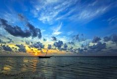 Evening brzegowego Diani Zdjęcia Royalty Free
