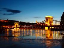Evening in Budapest. Bridge over the Danube in Budapest Stock Image