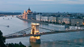 Evening Budapest stock footage