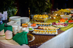 Evening buffet Stock Photography