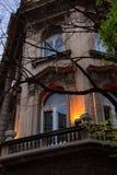 Evening building in Belgrade Stock Photography
