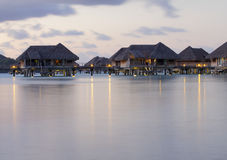 Evening bungalows Stock Images