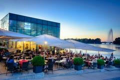 Evening cafe Hamburg Stock Images