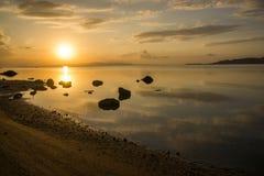 Evening calm sea Stock Photo