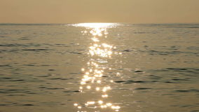 Evening at calm sea stock footage