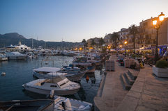 Evening Calvi marina Stock Photography