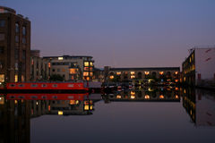 Evening at the canal Royalty Free Stock Image