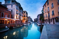 Evening canal in Venice Stock Photo