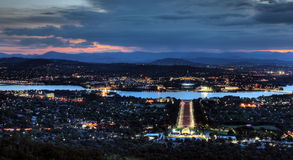 Evening in Canberra. Sunset in the City of Canberra, Australia