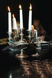 Evening with candles Stock Photo