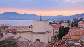 Evening in Cannes stock video