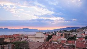 Evening in Cannes stock footage