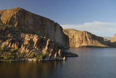 Evening at Canyon Lake near Phoenix, Arizona Royalty Free Stock Photo