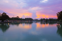 Evening at Chanthaburi. Royalty Free Stock Photos