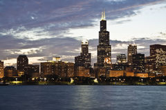 Evening in Chicago Stock Photography