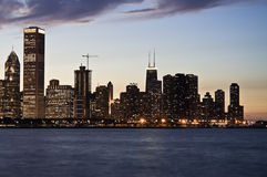 Evening in Chicago Royalty Free Stock Images