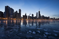 Evening in Chicago, Gold Coast. Evening in Downtown Chicago, IL, Gold Coast stock images