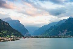 Evening chmurnieje w Alps Zdjęcia Royalty Free