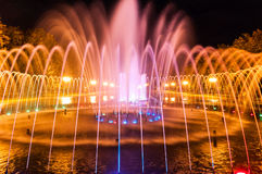 Evening city fountain in Kharkov Stock Photography