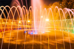Evening city fountain in Kharkov Royalty Free Stock Photo