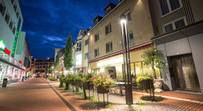 Evening city giessen germany. The evening city giessen germany royalty free stock photo