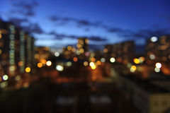 Evening city lights Stock Photo