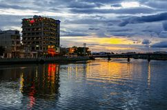 Evening City. Royalty Free Stock Image