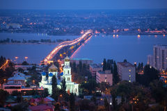 The evening city of Saratov Royalty Free Stock Photos