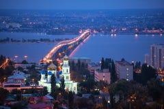 The evening city of Saratov Royalty Free Stock Photos