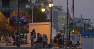 Evening city street stock video footage