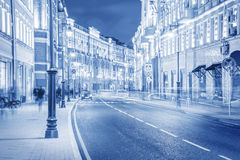 Evening city street. Royalty Free Stock Photography