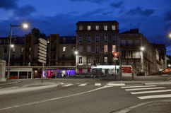 Evening cityscape of the French city Pau Stock Images