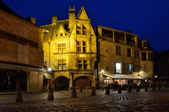 Evening cityscape of the French town Sarlat Royalty Free Stock Photo