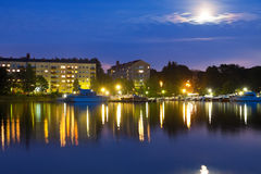 Evening cityscape of Helsinki, Finland Stock Image
