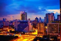 Evening cityscape of Kuala Lumpur, Malaysia Stock Images