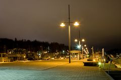 Evening cityscape of Lahti, Finland Stock Photography