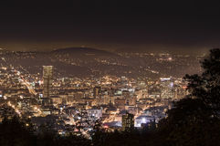 Evening Cityscape of Portland Oregon, USA Stock Images
