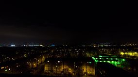Evening cityscape timelapse of a Riga district stock footage