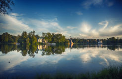 Evening in classic park Royalty Free Stock Photography
