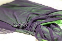 The evening clothes close up royalty free stock photography
