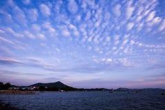 Evening cloud stock image