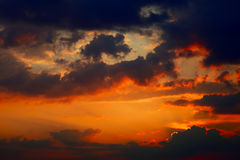 Evening clouds Royalty Free Stock Photo