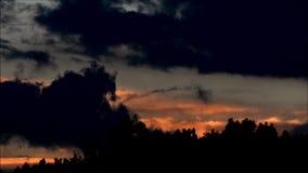 Evening clouds in Falkensee, Brandenburg Germany stock video footage