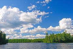 Evening clouds on Horseshoe Lake Stock Photo