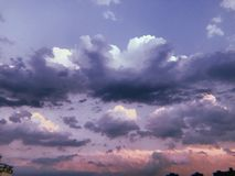 The evening clouds royalty free stock image