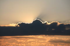 Evening cloudscape. Sunset with evening cloudscape and shadow Royalty Free Stock Images